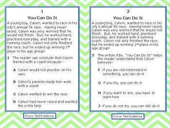Reading STAAR Test Prep: Text Evidence Task Cards, Grade 3 TEKS 3.13B