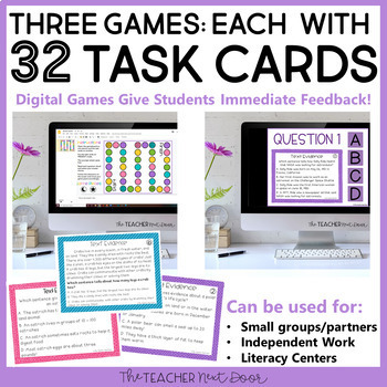 Text Evidence | Text Evidence Activities | Text Evidence Games