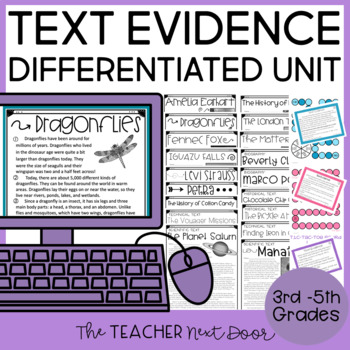 Text Evidence Activities Print and Digital for Google Slides™ Distance Learning