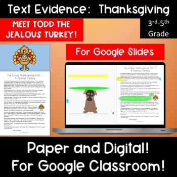 Text Evidence:  Thanksgiving