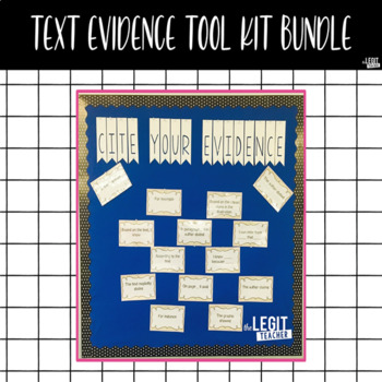 Text Evidence Tool Kit