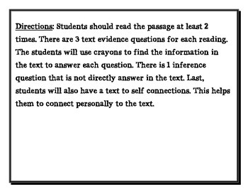 Text Evidence and Making Inference 3rd