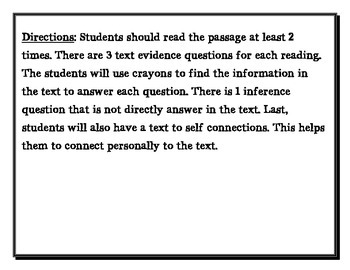 Text Evidence and Making Inference 2nd grade