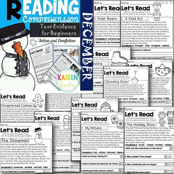 Text Evidence for Beginners-December Reading Comprehension Passages