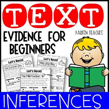 Text Evidence for Beginners-INFERENCES