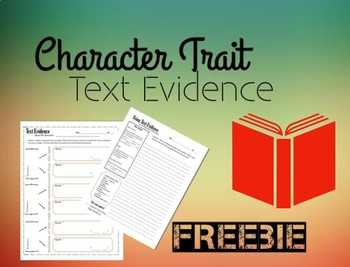 Text Evidence for Character Analysis