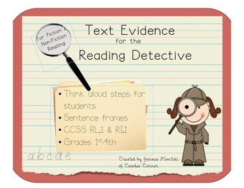 Text Evidence for the Reading Detective