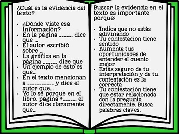Text Evidence in Spanish