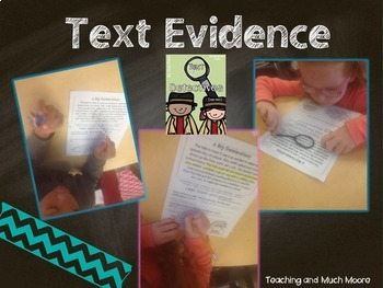 Text Evidence { mini pack with game }