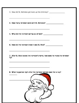 "Text Evidence with ""Twas the Night Before Christmas"""
