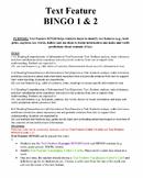 Text Feature BINGO 1 & 2