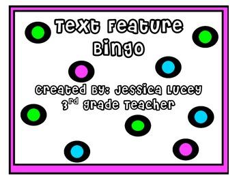 Text Feature BINGO Activity
