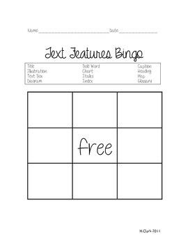 Text Feature Bingo