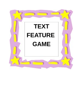 Text Feature Game