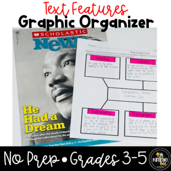 FREE Text Features NonFiction Graphic Organizer Worksheet