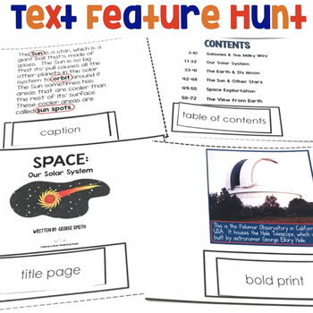 Text Features Center