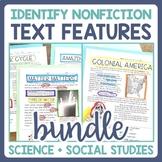 Text Features Identification: Science & Social Studies Bundle