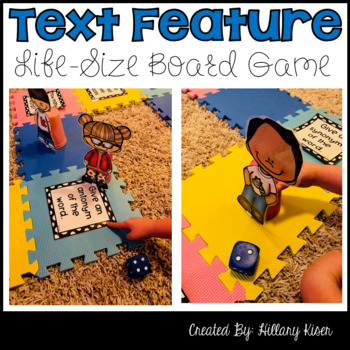 Text Feature Life-Size Game Board Game