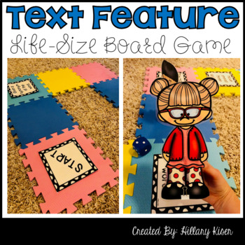 Text Feature Life-Size Board Game