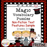 Non-Fiction Text Feature Magic Vocabulary Puzzles Sample