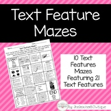 Text Feature Mazes