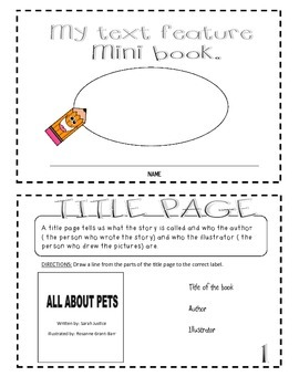 Text Feature Mini-Book and Create your Own Mini-Book ( Writer's Workshop)