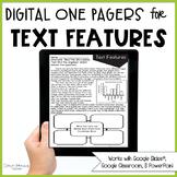 Text Feature Passages (Print & Digital)