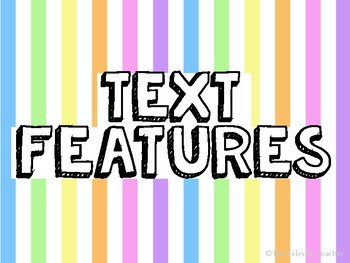 Text Feature Posters For Narrative Texts