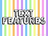 Fiction Text Feature Posters For Narrative Texts