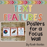 Text Feature Posters for a Focus Wall