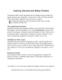Text Feature Project: Interview and Timeline