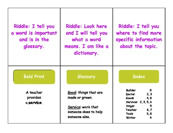Text Feature Riddles