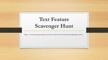Text Feature Scavenger Hunt-Rl.3.7, RI.4.7