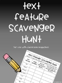 Text Feature Scavenger Hunt FREEBIE