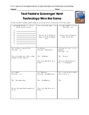 Text Feature Scavenger Hunt: Technology Wins the Game