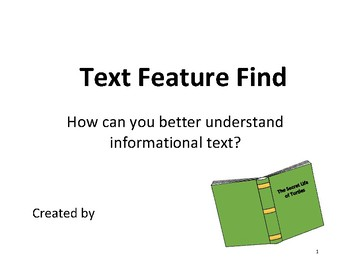Text Feature Student Book