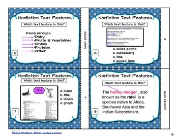 Text Feature Task Cards