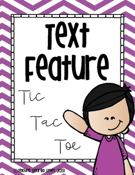 Nonfiction Text Feature Tic-Tac-Toe Game