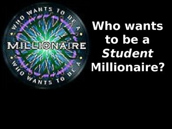 Text Feature Who Wants to be a Millionaire?