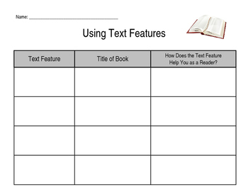 Text Feature and Purpose