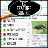 Nonfiction Text Features Activities Bundle - Centers, Posters, Reading Passages