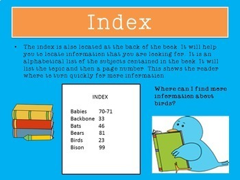 Text Features First Grade | PowerPoint