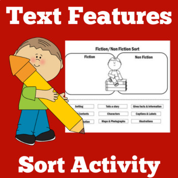 Text Features Activity | Text Features First Grade