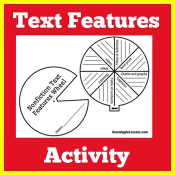 Text Features Activity | Text Features First Grade | Text Features Assessment
