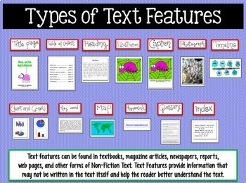 BOOM CARDS READING NONFICTION plus TEXT FEATURES Powerpoint
