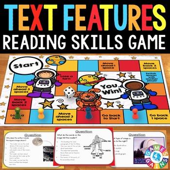 Nonfiction Text Features Activity: Nonfiction Text Features Reading Game