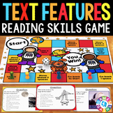 Nonfiction Text Features Activity: Text Features Task Cards Game