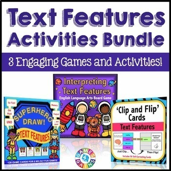 Nonfiction Text Features Games and Activities Bundle