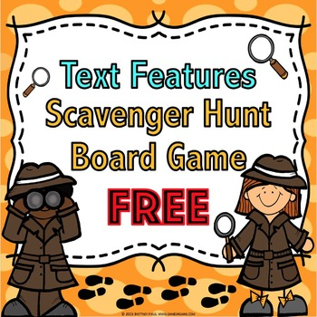 Nonfiction Text Features FREE: A Nonfiction Text Features Game