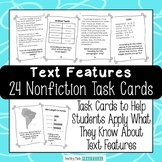 Text Features Task Cards - Text Features in Nonfiction - C